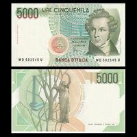 Italy 5000 5,000 Lire, 1985, P-111, Signature vary, UNC