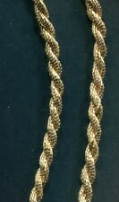 "Fancy Gold Rope Braid Cord Trim - 3/16"" (5mm) Diameter - 2 Ply BY THE YARD"