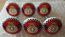 Mary Engelbreight Queen Teapot Ceramic Drawer Pulls Cabinet Knobs ~ Set Of 6 ~