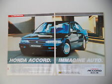 advertising Pubblicità 1991 HONDA ACCORD