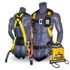 KwikSafety TYPHOON Safety Harness ANSI Fall Protection 3D Ring + Back Support