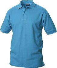 NewWave Calvin Mens 100% Combed Cotton Heavyweight Polo Shirt Turquoise Medium
