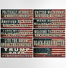 American Flag Motorcycle Helmet Decals Stickers Hard Hat Decal Stickers Qty: 10