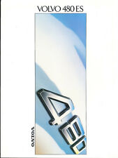 1988 1989 Volvo 480 480ES 32-page Original Swedish Car Sales Brochure