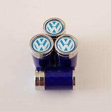 VW Volkswagen Royale Azul De Fibra De Carbono Vástago De La Válvula Del Neumático Polvo Tapas de aleación al Modelos