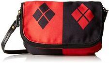 DC Comics Harley Quinn Mini Crossbody Bag purse strap zip flap button enclosure