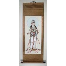 Rollbild Guanyin mit Ruyi Zepter chinesische Malerei China Kwan Yin Kuan Yin