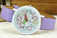 Faux Leather Stainless Steel Case Unisex Wristwatches