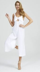 Alice McCall Forever Jumpsuit White Tie It Up Crinkle White Size 8