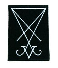 Sigil of Lucifer embroidered patch 2.75x3.5 Black Metal Satanic Evil Occult 666