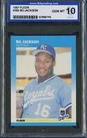 1987 Fleer #369 BO JACKSON Rookie RC (Royals) ISA 10 GEM MT