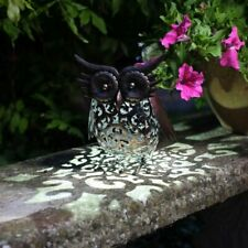 Solar Silhouette Metal Owl