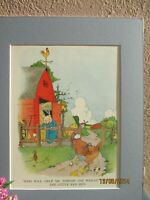 "vintage illustration of ""The Little Red Hen"" by Eulie  1925"