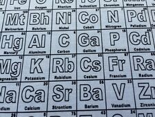 RPE513CX Periodic Table Of Elements Chemistry Science Math Cotton Quilt Fabric