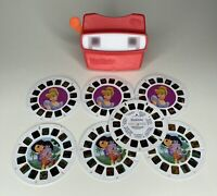 Vintage 1998 Red View Master 3D View-Master Viewer Toy with 7 Reels