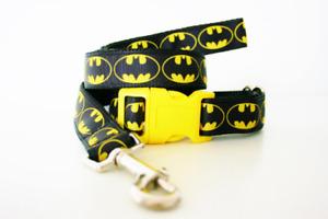 Batman Dog Collar and Lead Superhero