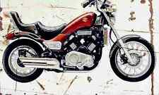 Suzuki GV1200 Madura 1986 Aged Vintage SIGN A4 Retro