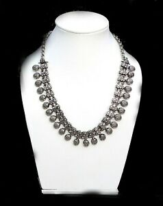 925 Silver Plated Handmade Girl,s Womens Necklace Oxidised Jewelry OXN4