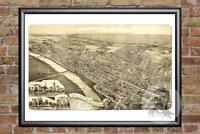 Vintage Wilkes-Barre, PA Map 1889 - Historic Pennsylvania Art - Old Industrial