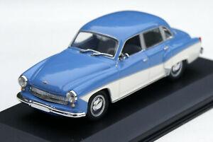 Wartburg 311/312 Limousine Bj. 1959-1967, Blue/White, Minichamps-Modell M.1 :