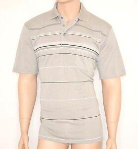 MAGLIETTA BEIGE maglia uomo POLO t-shirt cotone maniche corte a righe estiva 30A