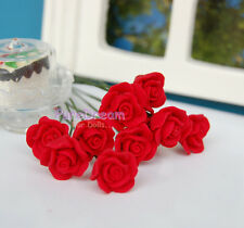 1/12 Dollhouse Miniature Clay Flower Red Rose 6Pcs without vase  OP02903