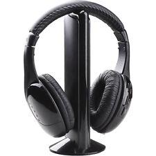 CASCOS AURICULARES INALAMBRICOS CON MICROFONO 5 EN 1 MUSICA TELEVISION RADIO DVD