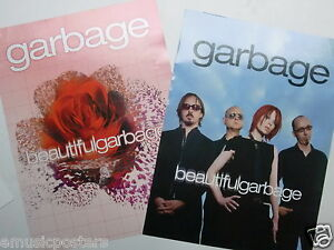 "GARBAGE ""BEAUTIFUL""  2-SIDED U.S. PROMO POSTER -Shirley Manson,Wisconsin Rocks!"