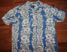 Hawaiian Clothing Tiare Hawaiian Blue  Shirt Size L
