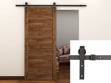 Basic J Style American Style 6.6FT Sliding Track Hardware Kit Barn Wood Door New