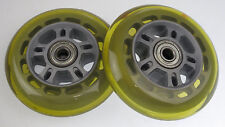 Lot of 2 Replacement 90mm Scooter Wheels Wheel w/ Bearings 90 mm
