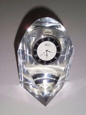 Mikasa  Solitaire Wedge Contemporary Lead Crystal Quartz Clock Slovenia