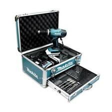 Perceuse visseuse à percussion MAKITA 18V Li-Ion 1.3Ah en mallette ALU + KIT