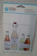 Martha Stewart White Silver Beverage Labels Party Wedding New