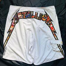 Billabong Metallica RARE White Board Swim Surf Shorts 44