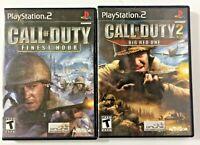 Lot of 2 Call of Duty PlayStation 2 (PS2) Video Games -Finest Hour & Big Red One