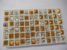 48 swarovski square stones,8mm crystal/foiled #4400
