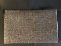 "Vintage Wool Material 60"" x 1 yd. 14 inches - Main colors Gray, Black, Navy"