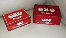 More details for 2 x original vintage oxo cube metal tins. 1950's 24 x 6s / 1980's 48 cube.