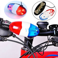 Kids Cycling Bike 6 LEDs Electric Horn 4 Sounds Bicycle Police Siren Lights New