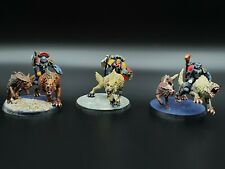 Warhammer 40k Space Wolves Thunderwolf Cavarly x3 #1 Painted R1S1B2