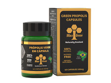 6 Bottles of Brazil Wax Green Bee Propolis 500mg (60 Capsules) - Immune Booster