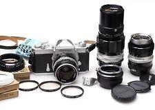 Nikon Nikkormat FT-N + Nikkor-S 35mm 2.8 + Nikkor-Q 200mm 4 + Nikkor-Q 135mm 3.5