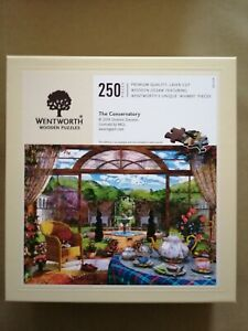 """WENTWORTH 250 PIECE WOODEN JIGSAW WITH WHIMSY PIECES """"THE CONSERVATORY"""""""