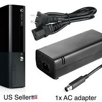 Fits Xbox 360 E Power Supply Brick Charger Adapter Cable Cord 360 E Console