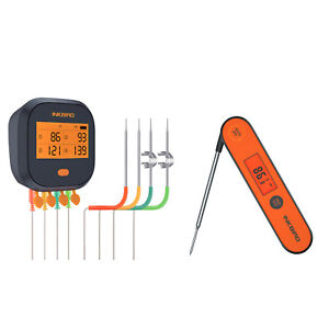 Inkbird WIFI Digital Cooking Thermometer IBBQ-4T Rechargeable + Instant Read bbq