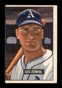 1951 Bowman Set Break # 262 Gus Zernial VG *OBGcards*