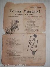 GRAN SUCCESSO TORNA MAGGIO A canzone d e rrose Bideri 1930 Musica napoletana di