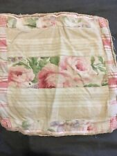 Antique Vintage French Linen Fabric Floral Ticking Patchwork Country Shabby Chic