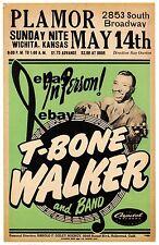 "T Bone Walker  16"" x 12"" Photo Repro Concert Poster"